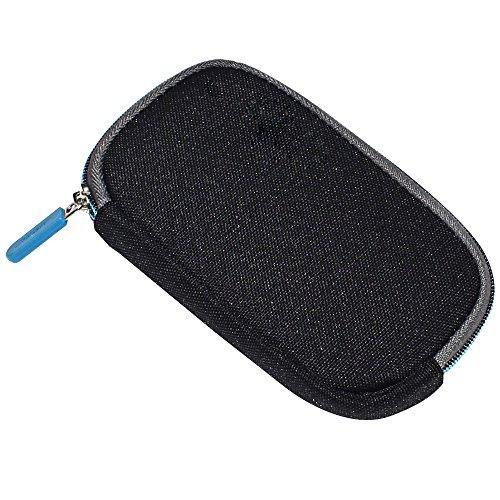 Zipper Headphone Carrying Case Storage Bag Pouch Compatible Bose QC20 QC 20 QC20i QC 20i QuietComfort 20 Headphones (Black)