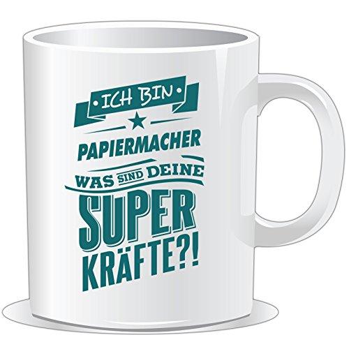 getshirts - Rahmenlos® Geschenke - Tasse - Superpower Papiermacher - Petrol - Uni Uni