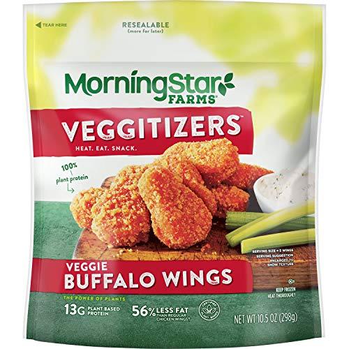 MorningStar Farms Veggie Buffalo Wings, 10.5 oz (Frozen)