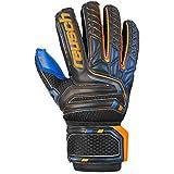 Reusch Attrakt S1 Finger - Guantes para niño, N'est Pas Applicable, Niño, Color Noir/Orange/Bleu, tamaño FR : M (Taille Fabricant : 6)