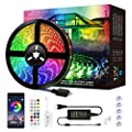 LED Strip Lights, Mixi 16.4ft 150 Lights Waterproof LED Light Strips Color Changing 5050 RGB with Bluetooth Music Sync App Remote Controller, Wall Lights, Rope Lights, Bedroom Decor