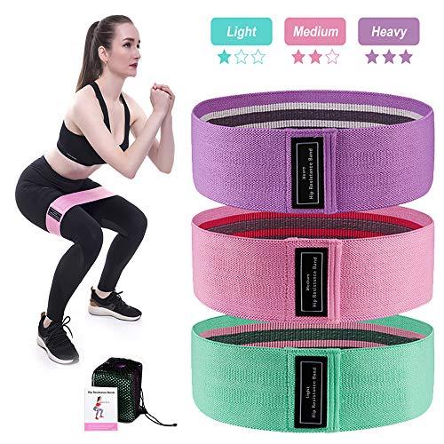 Enlifety Resistance Bands Fitnessbänder Set, 3er Set Widerstandsbänder mit Unterschiedlicher Dehnbarkeit, Krafttraining Band für Hüfte, Beine, Muskelaufbau, Yoga, Pilates, Crossfit, Physiotherapie