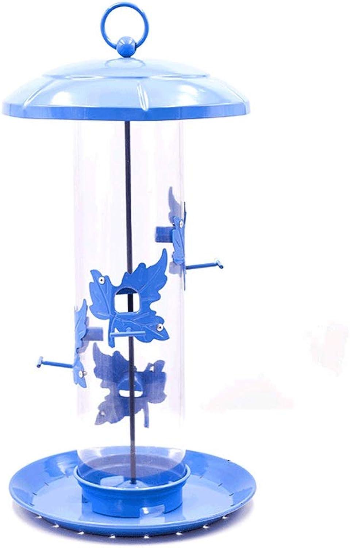 Feeding Wild Birds Seed Container Bird Feeder Tube Tube Plastic Feeder Transparent Feeder