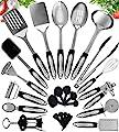 Home Hero Stainless Steel Kitchen Cooking Utensils - 25 Piece Utensil Set - Nonstick Kitchen Utensils Cookware Set with Spatula - Best Kitchen Gadgets Kitchen Tool Set by Home Hero