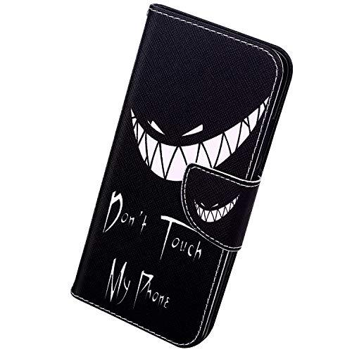 Herbests Kompatibel mit Xiaomi Redmi 7A Handyhülle, Handytasche Leder Hülle Tasche Handy Schutzhülle Flip Hülle Standfunktion Kartenfach Brieftasche Cover Magnetverschluss,Gesicht