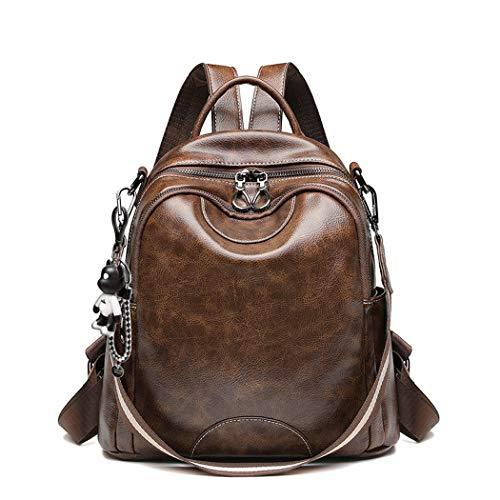 BUKESIYI Women's Backpack Handbags Rucksack Shoulder Bags PU Leather Mini Kawaii Anti-theft CCUK78248 Coffee