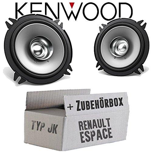 Lautsprecher Boxen Kenwood KFC-S1356-13cm Koax Auto Einbauzubehör - Einbauset für Renault Espace 4 JK Front Heck - JUST SOUND best choice for caraudio