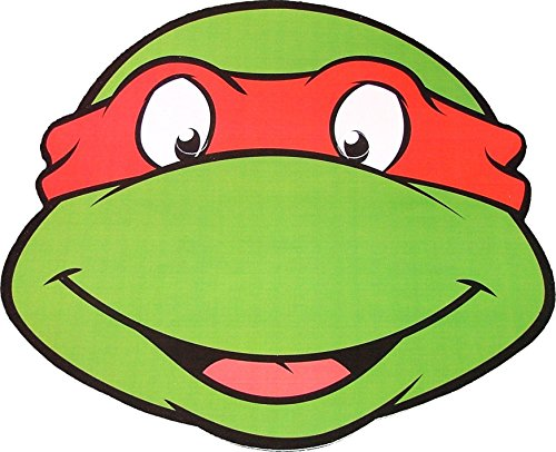 Star cutouts Teenage Mutant Ninja Turtles - Raphael - Card Face Mask