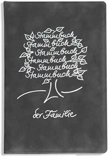 Stammbuch grau Breris Familienstammbuch Samt