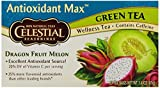 Celestial Tea Antioxident Max Green Tea - Dragon Fruit Melon, 20-Count