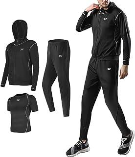 [エアバイ] 3点セット メンズ トレーニングウェア セットアップ スポーツ ジム ウエア 0A-A01 M~3XL
