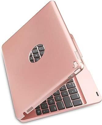 TLfyajJ Ultrad nne Faltbare Bluetooth-Tastatur Smart Case f r iPad 9 7inch 2018 Rose Golden