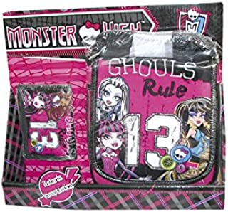 Monster High - Pack Bolso Vertical + Billetero con Velcro ...