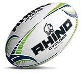 Rhino Cyclone - Balón de Rugby, Color Blanco, Talla 4