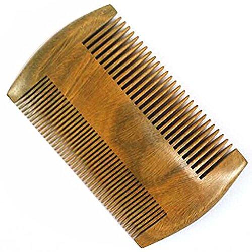 Demarkt Bartkamm Sandelholz antistatischer Holzkamm zweiseitige Bartbürste Bartpflege Bartpflegeprodukte Holz kamm Bürste Bartbürsten