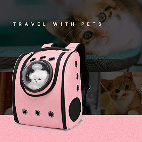 FUNBS Atmungsaktiver Katzenrucksack, Reisetasche für Haustiere, Reiserucksack für Welpen, Space Capsule Design, wasserdicht transparent, komfortabel, Faltbarer Haustierrucksack