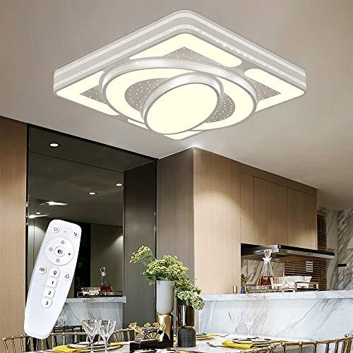 Wohnzimmerlampe Deckenleuchte LED Dimmbar mit Fernbedienungen 54W 4860LM, Design Deckenlampe Für Wohnzimmer Schlafzimmer Balkon KücheFlur Badezimmer, Super Helle, 500×500×100 mm