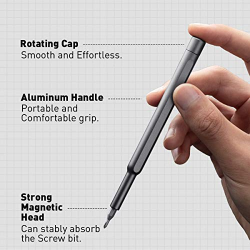 VMAN Small Screwdriver Set, 63 in 1 Precision Screwdriver Set, iphone Repair Tool Kit with Case Screwdriver Set for Electronics, Gameconsole, Watch, Tablet, PC, MacBook…