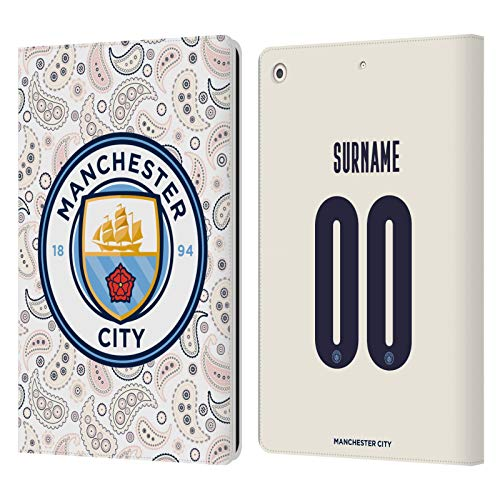 Head Case Designs Officially Licensed Custom Customized Personalized Manchester City Man City FC Third 2020/21 Badge Kit Leather Book Wallet Case Cover Compatible with Apple iPad 10.2 (2019)/(2020)
