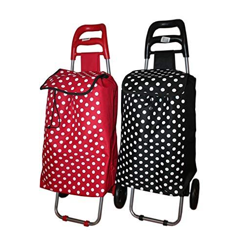 Einkaufstrolley Klappbar, Einkaufsroller, Einkaufswagen, Trolley mit Tasche - 40 Liter