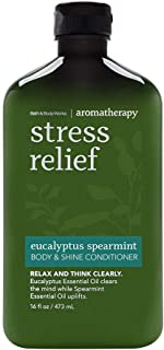 Bath and Body Works Aromatherapy Stress Relief Eucalyptus Spearmint Body & Shine Conditioner 16oz