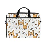 Cute Funny Cartoon Fox 15-15.4 inch Laptop Sleeve Case Notebook Waterproof Shoulder Bags for Men