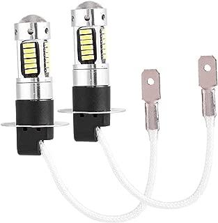 Fog Light Bulb,  Pair of H3 4014 White LED Car Headlight Fog DRL Light Bulb Lamp DC 12V