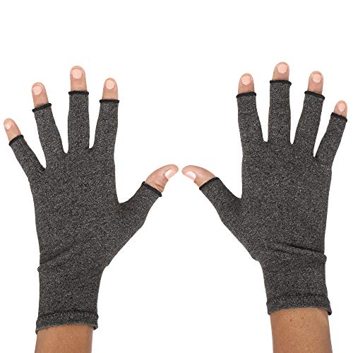 ZenToes Arthritis Compression Gloves - Pain Relief for Rheumatoid & Osteoarthritis Treatment - Fingerless Gloves for Everyday Wear - 1 Pair (Medium)