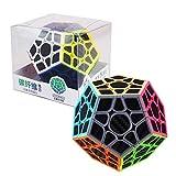 RUIGIN Geschwindigkeits-Würfel, 12-Gesichts-Carbon-Faser-Aufkleber Magie Puzzle Multidimensional Speed 3D Kinder Lern Brain Training-Spiel-Spielzeug