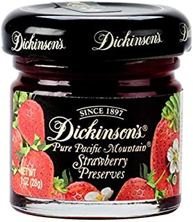 Dickinson's Pure Pacific Mountain Strawberry Preserves, 1 oz, 72 Count