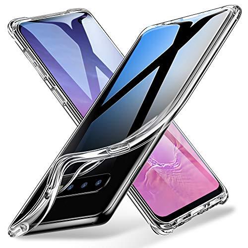 ESR Funda Essential Guard Clear Compatible con Samsung Galaxy S10 Plus, Funda de Silicona Suave con Parachoques Reforzado en Las Esquinas para Samsung S10 Plus - Transparente Jelly