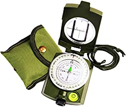 Compass Waterproof and Shakeproof, Hiking Compass with Carrying Bag, Military Compass Map Measurer Distance Calculator, Sighting Compass Increases Reading's Accuracy