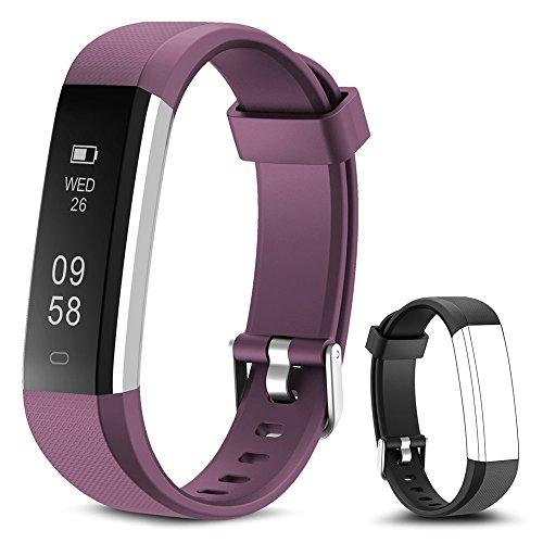 Rayfit Pulsera Actividad Reloj Inteligente Fitness Tracker Podómetro Monitor de Sueño Contador de Calorías Pasos Rastreador de Ejercicios Reloj Salud Pulsera Deportiva para Niños Mujeres Hombres