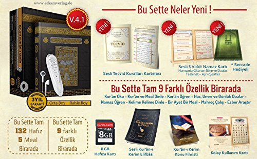 Kalem Kurani Kerim, Kuran okuyan kalem, Koran mit Lesestift Rahle Boy Kabe Kutulu