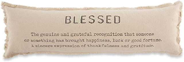 Mud Pie Thanksgiving Blessed Long Pillow, 11-inch x 35-inch