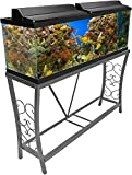 Aquatic Fundamentals Metal Aquarium Stand (55 Gallon- Gray) 102552-AMA