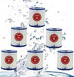 XIAOBUDIAN Para Cartuchos De Filtro De Piscina Intex Tipo H Para Limpieza De Reemplazo Para Intex 29007 -Tipo H Para Bombas De Filtro 28601, 28602 (6PCS)