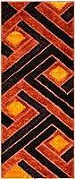 RugStylesOnline Royal Collection Orange Brown Contemporary Design Shaggy Area Rug (6017) (3ft3 inchx7ft) 商品カテゴリー: ラグ カーペット [並行輸入品]