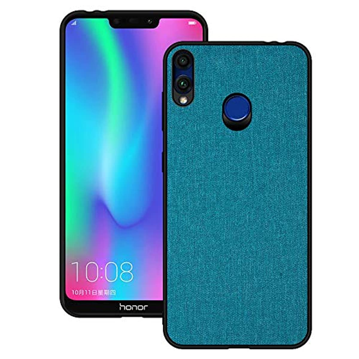 Huawei Y9 2019 Case, CJ Sunshine Huawei Y9 2019 Mobile Phone Shell with Fabric PU Back Cover All-Inclusive Shatter-Resistant Hard Shell Silicone Soft Edge Case for Huawei Y9 2019(Navy)