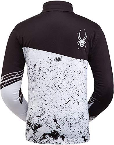 Spyder Herren Mandate Zip T-neck, Black White, XL