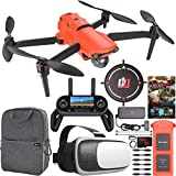 Autel Robotics EVO 2 Drone Folding Quadcopter 8K HDR Video and 48MP Camera EVO II On The Go Extended Warranty Bundle with OLED Remote Control + FPV VR Goggle Pilot Headset + Essential Software Kit
