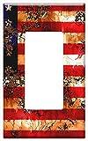 Switch Plate Single Rocker/GFCI - American Flag Usa Symbol National