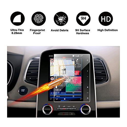 RUIYA Protecteur d'écran en Verre trempé pour 2018 Renault Grand Scénic Ⅳ R-Link 2 Système de Navigation, Film Invisible & Transparent, Protecteur d'écran Crystal Clear HD, Anti-Rayures (8,7 Pouce)