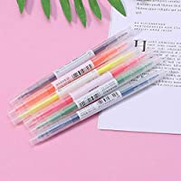 6Pcs Dual Head 6 Colored Highlighter Pen With Invisible Ink For School Office