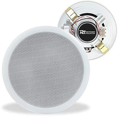 """Power Dynamics 100V Line 5"""" Restaurant Office Bar Shop White Ceiling Speaker"""
