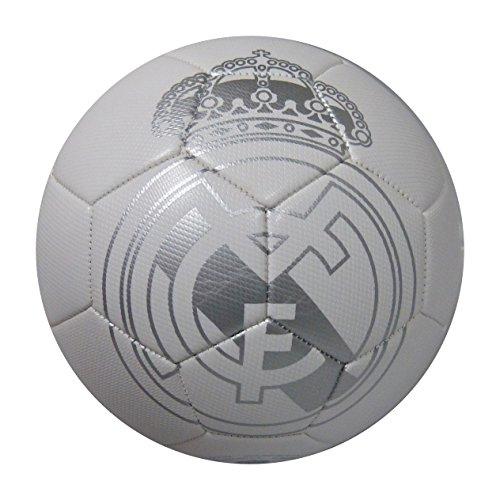 Balon Oficial REAL MADRID Talla Size 5 Blanco Plata