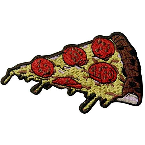 Parche termoadhesivo para la ropa, diseño de Pizza de peperoni Comida rápida italiana