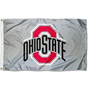 Ohio State Buckeyes OSU University Large Gray College Flag