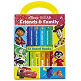 Disney Pixar - Toy Story, Cars, Coco, and more! Friends and Family: My First Library Board Book Block 12-Book Set - PI Kids