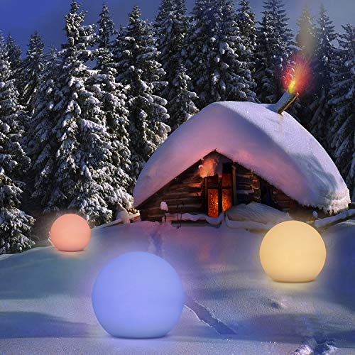 Solarlampen für Außen, Homever Solarleuchte Garten 12in Mit 9 Farbwechselmodi,Wasserdicht für Garten / Pool / Party / Park.